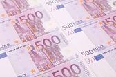 Close up van vijfhonderd rekeningen. — Stockfoto