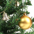 Backgroud of Christmas tree and  toy — Stock Photo