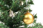 Backgroud de árbol de navidad y juguetes — Foto de Stock