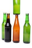 Five bottles of beer — Stock Photo