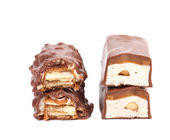 Stack of sliced chocolate bar. — Stock Photo