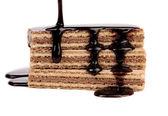 Wafer palo rivestito di cioccolato. — Foto Stock