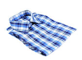 Blue plaid shirt — Stock Photo