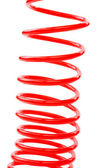 Red air hose vertical — Stock Photo