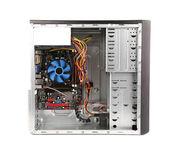 Open PC computer case — Stock fotografie