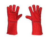 Red protective gloves — Stock Photo