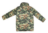 Camouflage winter jacket. Back view — Stock Photo