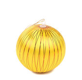 Yellow dull christmas ball. — Stock Photo