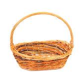 ヴィンテージ織り籐のバスケット. — ストック写真