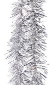 Christmas silver tinsel. — Foto Stock