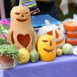 Halloween holiday decorative pumpkins. — Foto de Stock