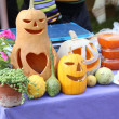Halloween holiday decorative pumpkins. — Stockfoto