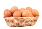 Brown eggs in the basket. — Stock Photo