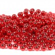 Christmas garland of small red beads. — Stock Photo