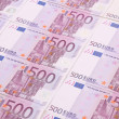 Stock Photo: Five hundreds euro banknotes