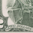Close up of 2 dollar bill. — Stock Photo