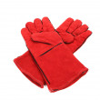 Heavy-duty red gloves. — Stock Photo