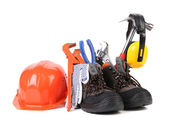 Working tools in boots. — Foto de Stock