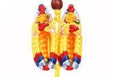 Makramé multicolor boty. — Stock fotografie