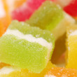 Many different fruit paste candies — Stock Photo
