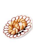 Freshly fancy pretzel on plate. — Stockfoto