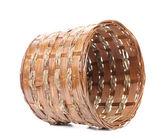 Vintage weave wicker basket — Stock Photo