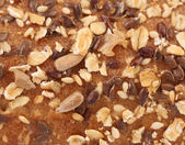 Fondo de pan con copos de avena — Foto de Stock