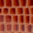 Close up of red-brown leather texture. — Stock Photo
