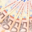 Close up of 50 euro notes fan. — Stock Photo #34722807