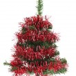 Christmas tree wrapped in tinsel — Stock Photo #34945613