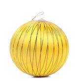 Yellow christmas ball — Stock Photo