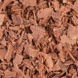 Chocolate shavings texture. — Stock Photo
