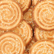 Round cookies with sesame seeds. — Stock Photo
