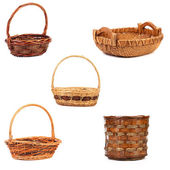 Vintage weave wicker baskets — Stock Photo