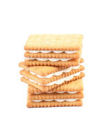 Stack of cookies. — Stock Photo