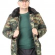 Man in military coat. — Stock Photo #35243969