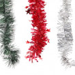 Stock Photo: Christmas decoration in row.