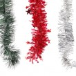 Christmas decoration in row. — Stock Photo