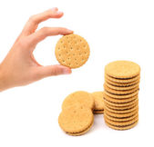 Closeup biscotti di biscotto con ripieno. — Foto Stock