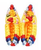 Zapatos multicolor macrame. — Foto de Stock