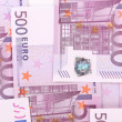 Five hundred euro notes — Stock Photo