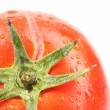 Background of tomato with water drops. — Stock Photo
