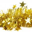 Tinsel. Christmas decoration. — Stock Photo