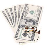 Hundred dollars greenbacks. — Stock Photo