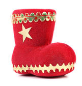 Christmas gift red boot. — Stock Photo