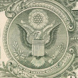 Stock Photo: Dollar eagle banknote close up.