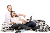 Happy family. Man and pregnant woman. — Stock Photo