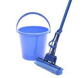 Washing the floor with cleaning tools. — Stock Photo