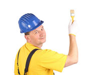 Worker with brush — Stock Photo