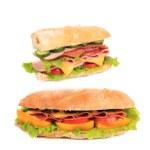 Постер, плакат: French baguette sandwich
